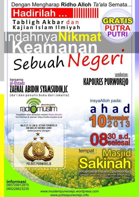 TABLIGH AKBAR PURWOREJO 10 NOVEMBER 2013