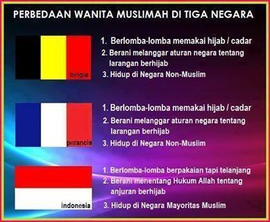 Perbedaan Wanita Muslimah 3 Negara