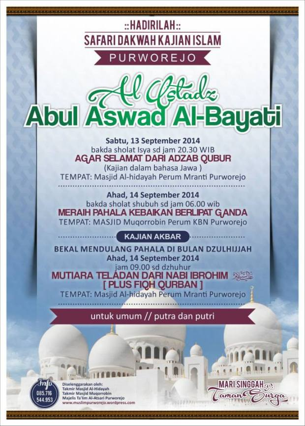 Safari Dakwah Islam bulan September