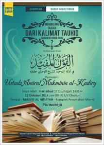 Kajian Ustadz Amirul Mukminin di Purworejo